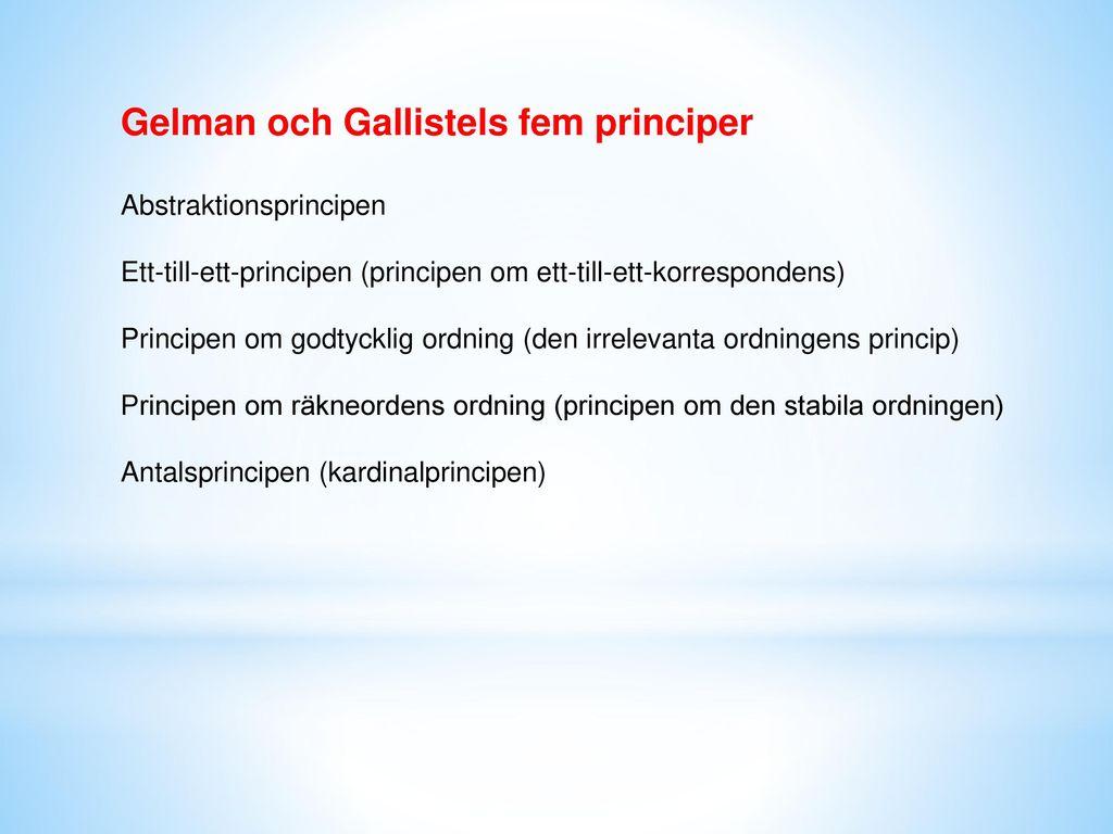 Gelman och Gallistels fem principer