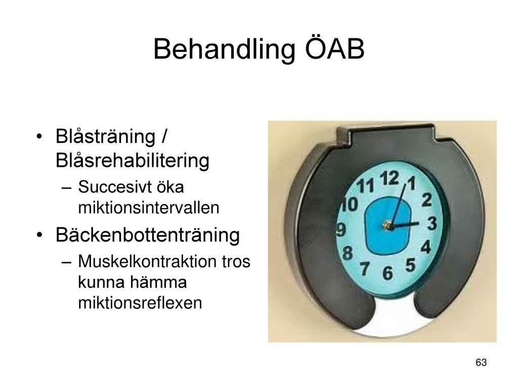 Behandling ÖAB Blåsträning / Blåsrehabilitering Bäckenbottenträning