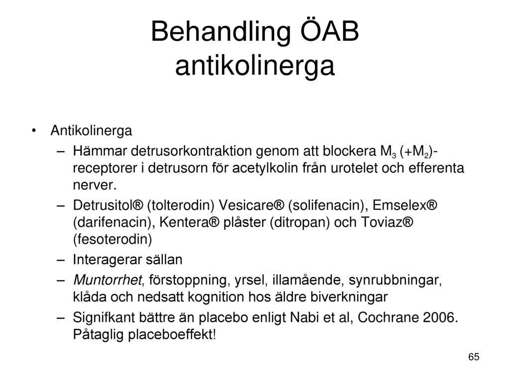 Behandling ÖAB antikolinerga