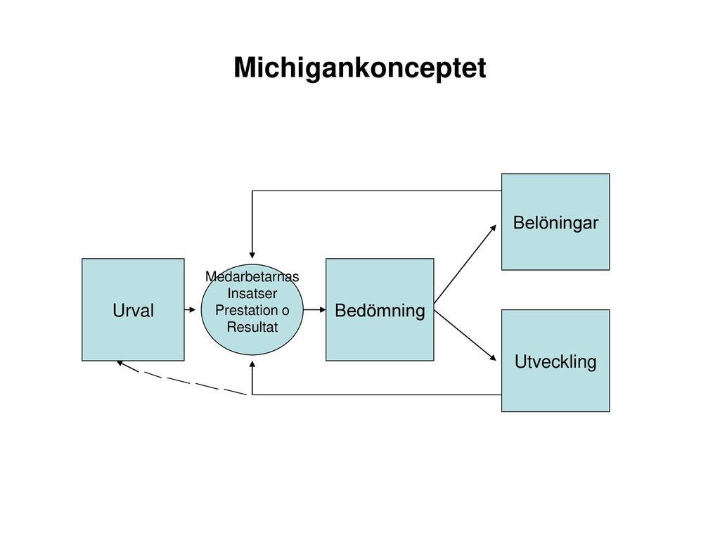 Michigankonceptet Belöningar Urval Bedömning Utveckling Medarbetarnas