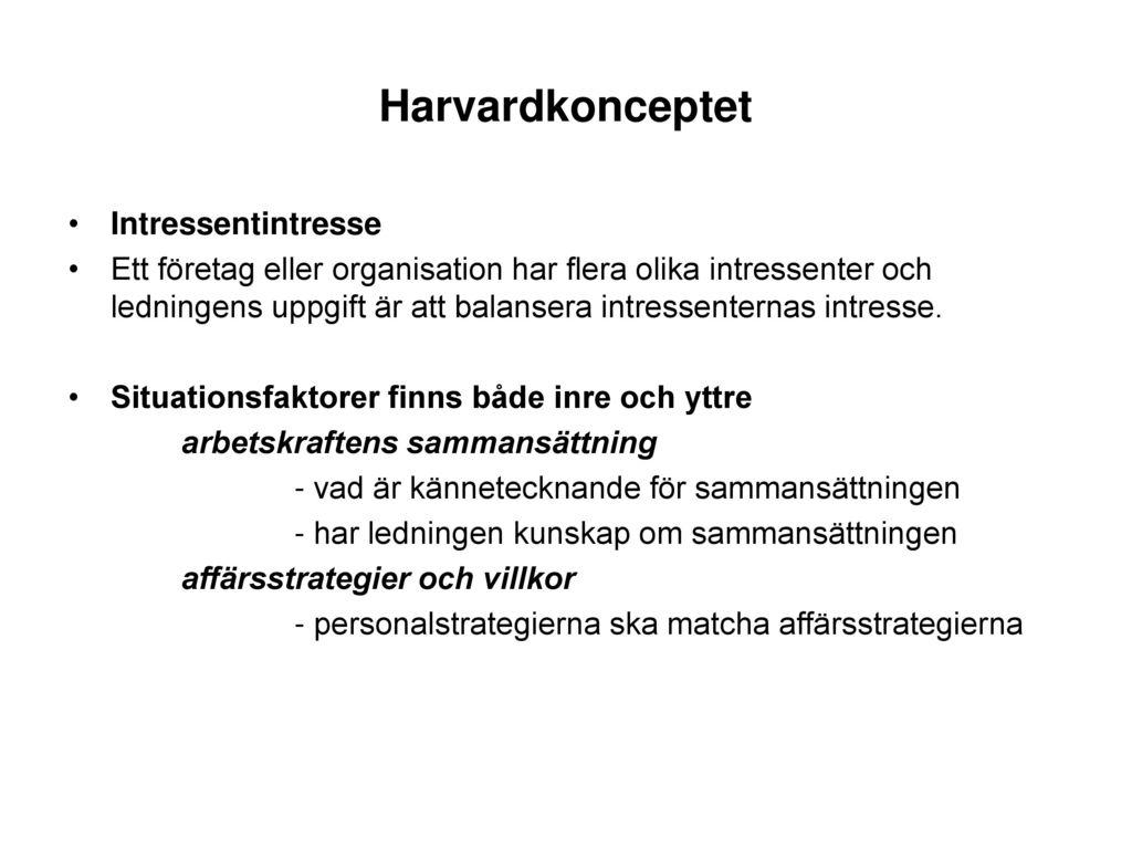 Harvardkonceptet Intressentintresse
