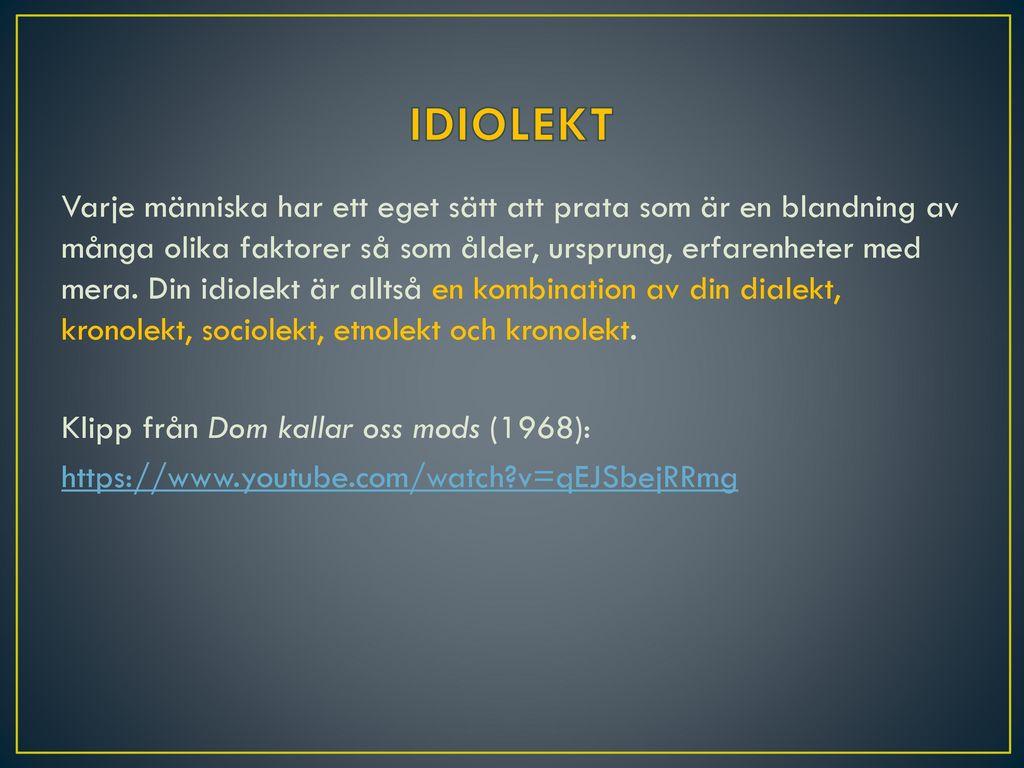 IDIOLEKT