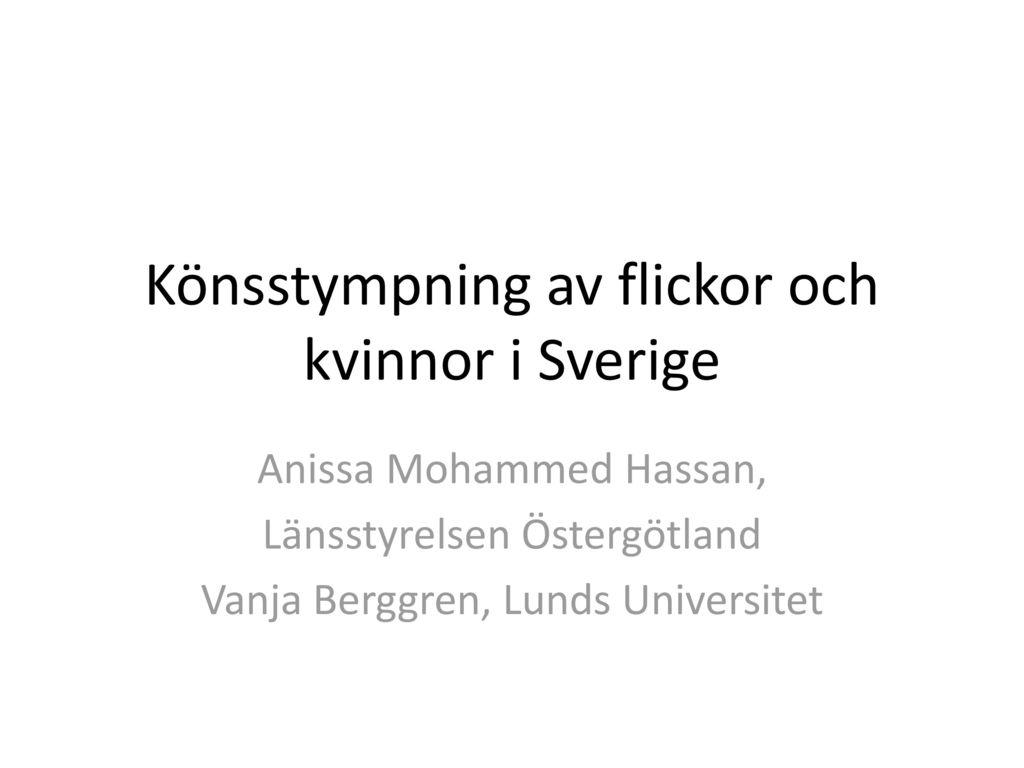 Könsstympning av flickor och kvinnor i Sverige