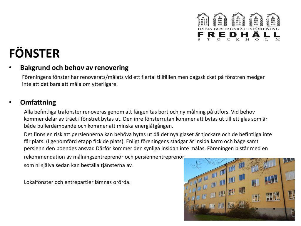 Välkomna alla boende Hus 2 på Rålambsvägen 46-48, Vitalisgatan 6-4 ...