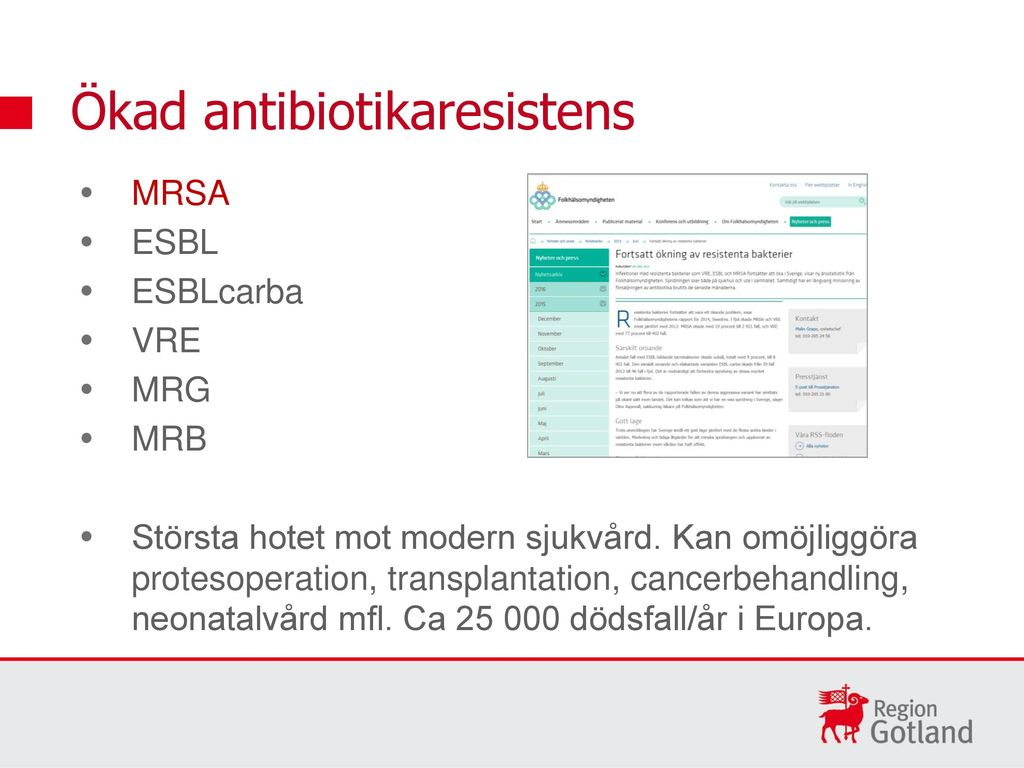 antibiotika resistens bakterier