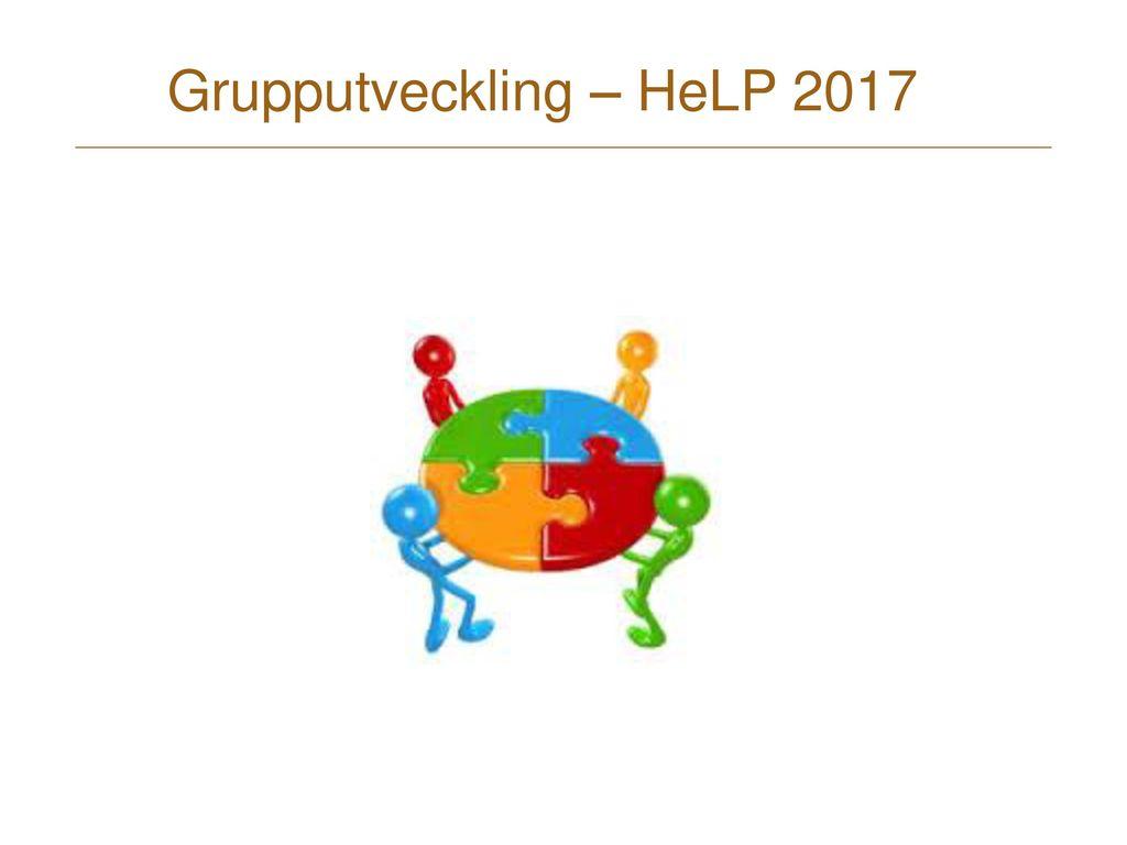 Grupputveckling – HeLP 2017
