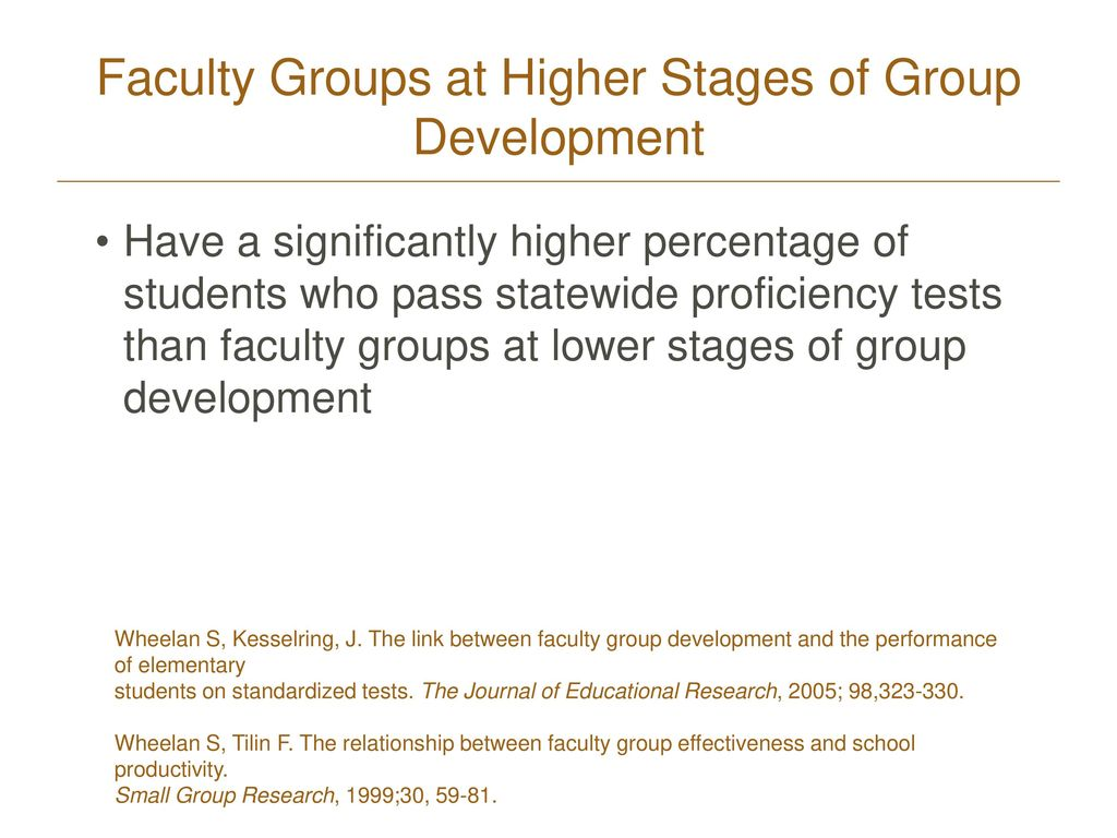 Faculty Groups at Higher Stages of Group Development
