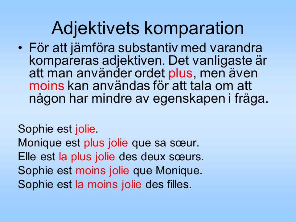 Adjektivets komparation
