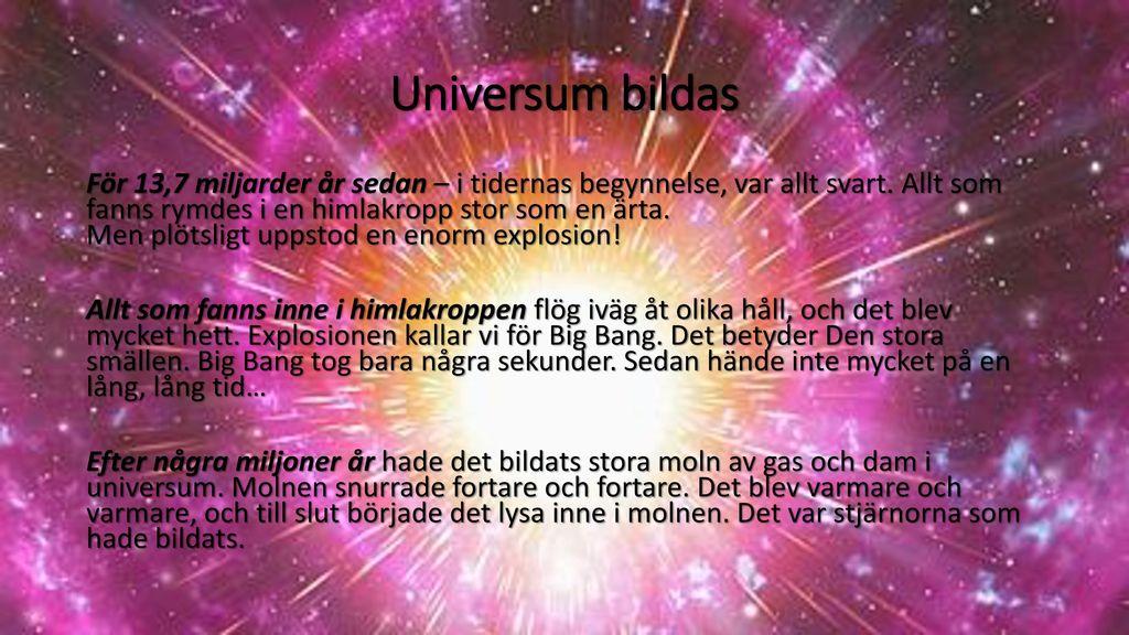 Universum bildas