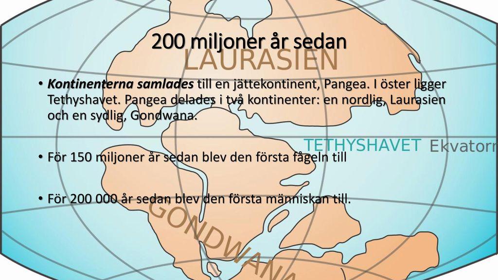 200 miljoner år sedan