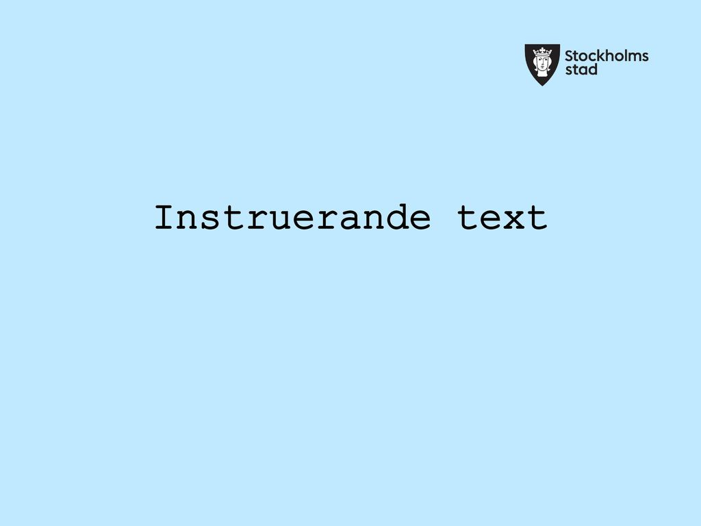 Instruerande text