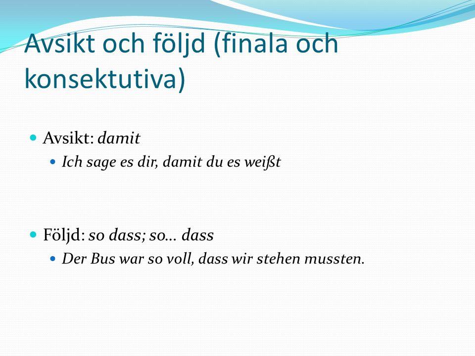 Avsikt och följd (finala och konsektutiva)