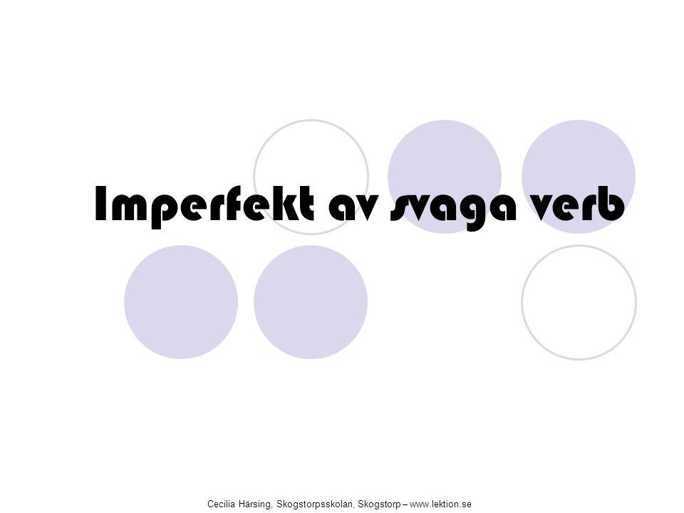 Imperfekt av svaga verb