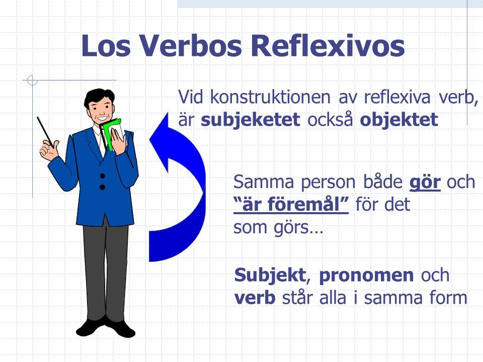Los Verbos Reflexivos Vid konstruktionen av reflexiva verb,