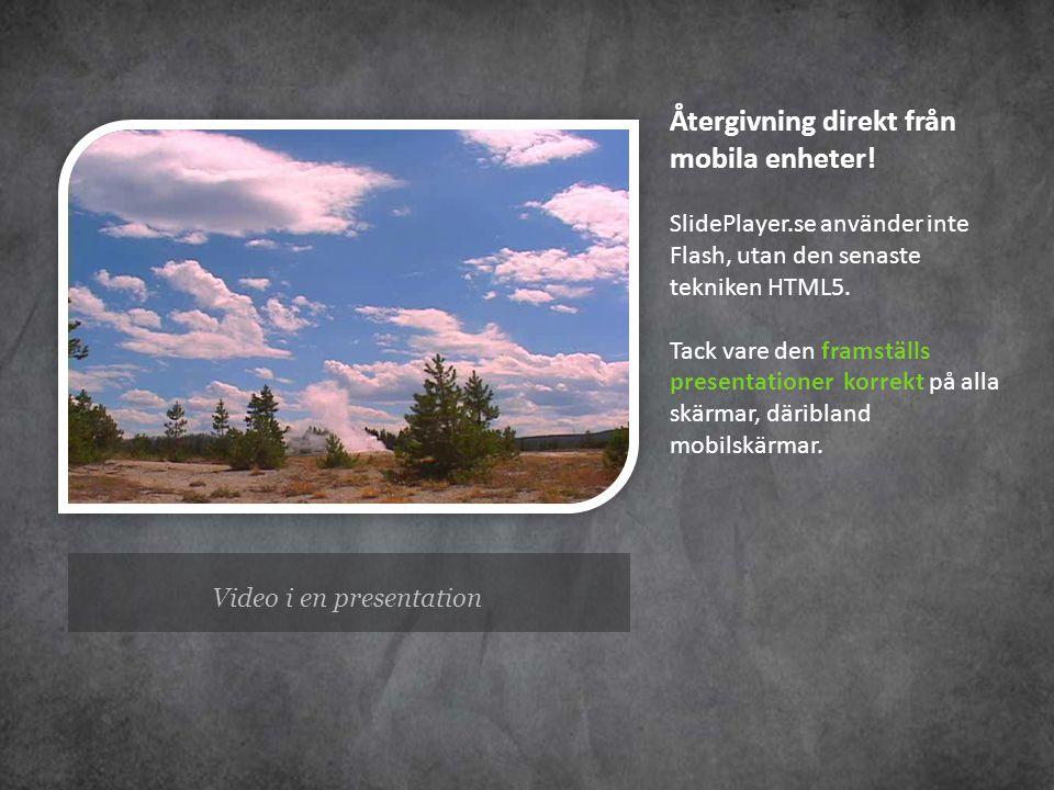 Video i en presentation