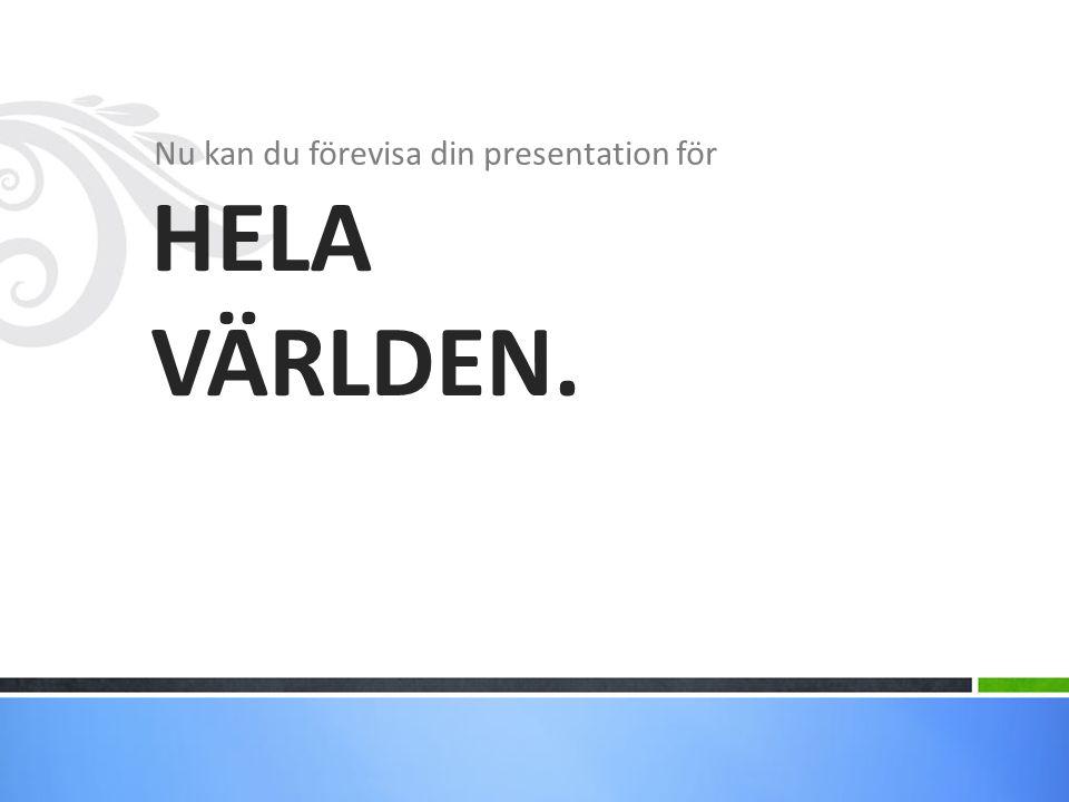 Nu kan du förevisa din presentation för