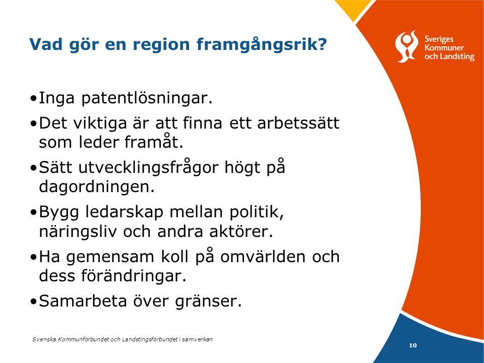 Vad gör en region framgångsrik