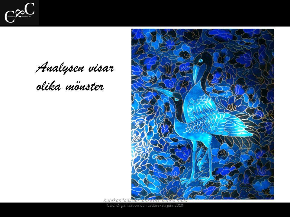 Analysen visar olika mönster Kunskap föds där tanke och känsla möts