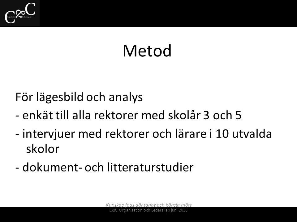 Metod För lägesbild och analys
