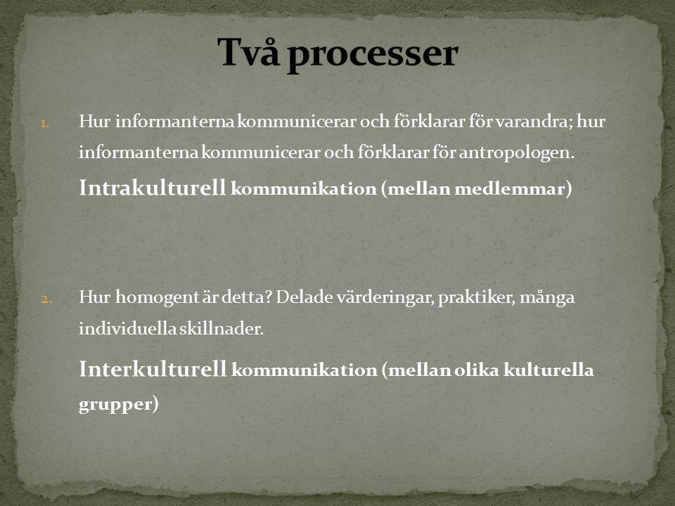 Två processer