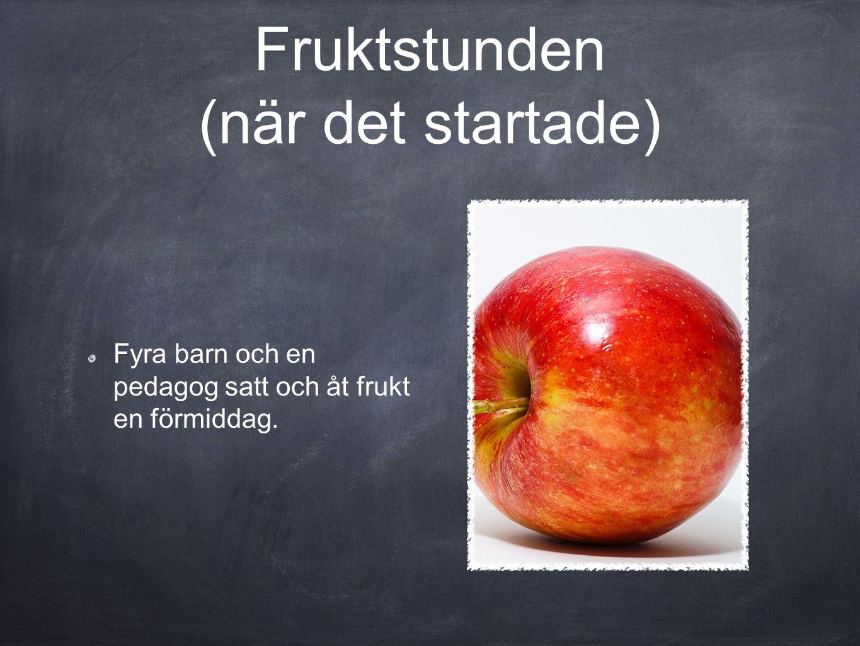 Fruktstunden (när det startade)
