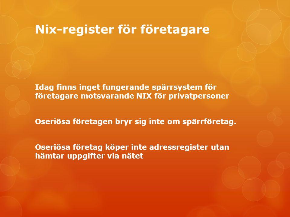 Nix-register för företagare