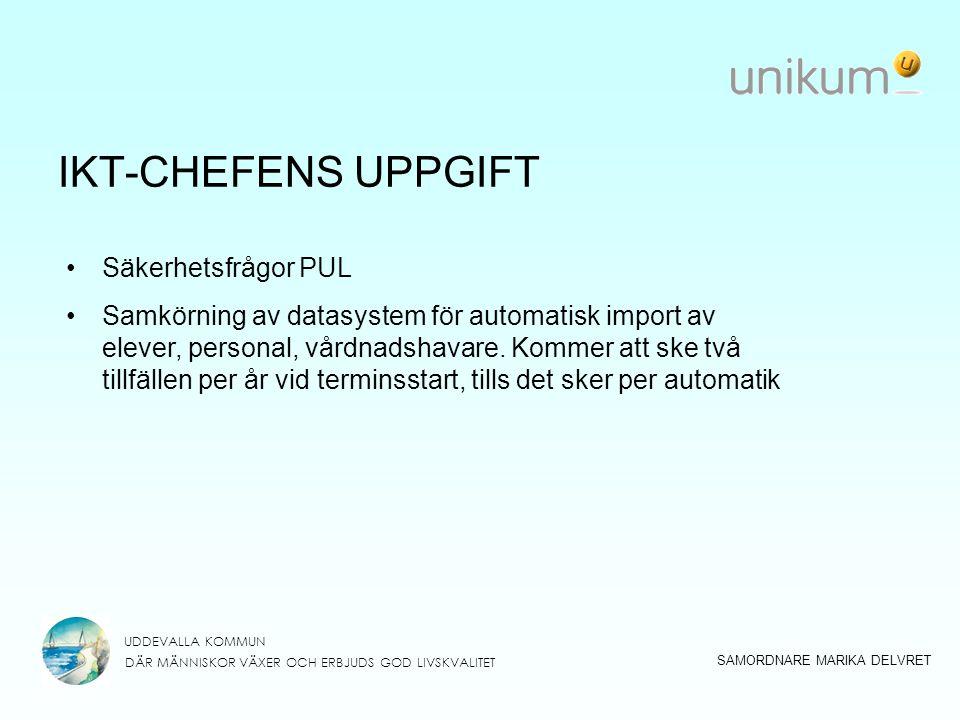 IKT-CHEFENS UPPGIFT Säkerhetsfrågor PUL