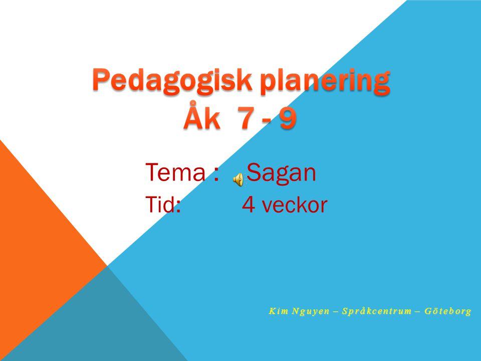 Pedagogisk planering Åk 7 - 9