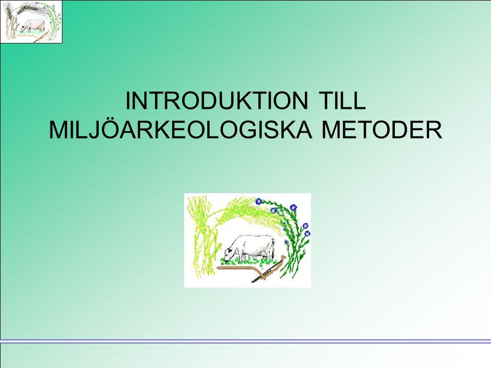 INTRODUKTION TILL MILJÖARKEOLOGISKA METODER
