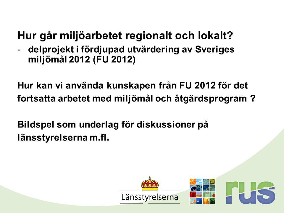 Hur går miljöarbetet regionalt och lokalt