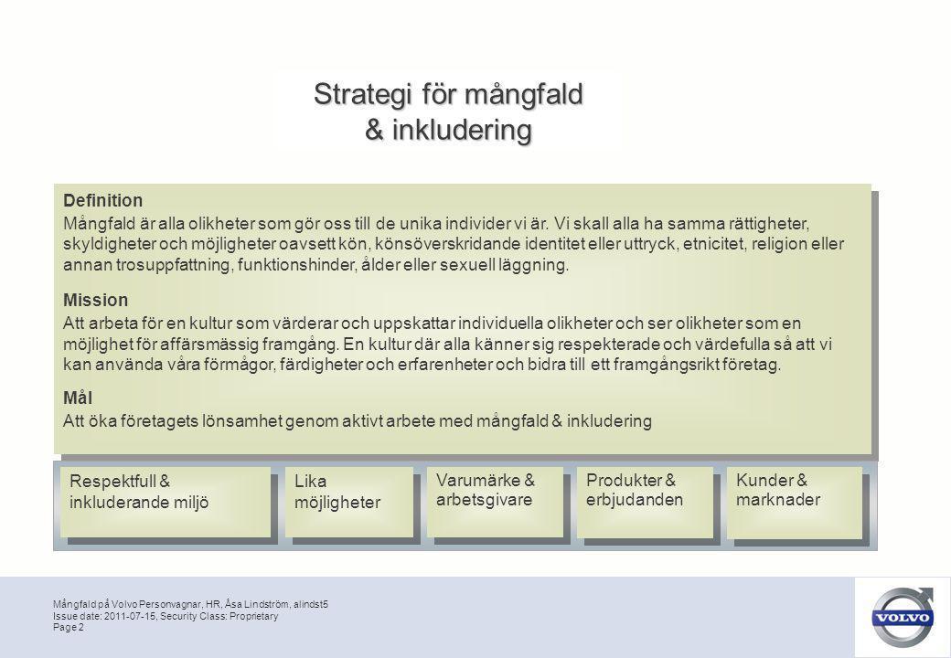 Strategi för mångfald & inkludering Definition