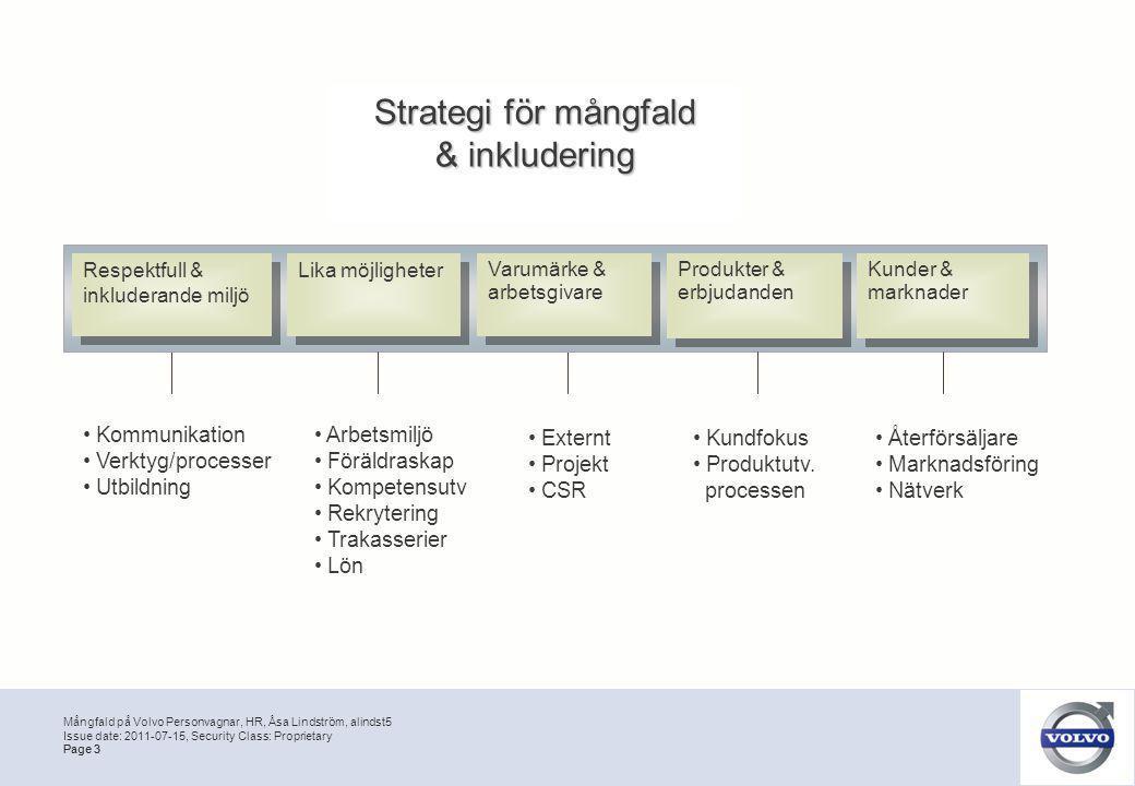Strategi för mångfald & inkludering Kommunikation Verktyg/processer