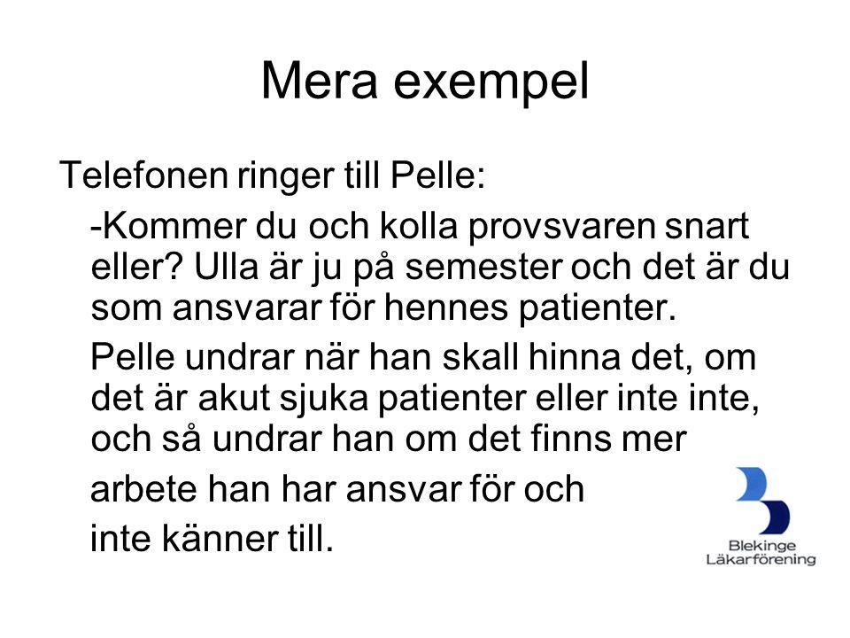Mera exempel Telefonen ringer till Pelle: