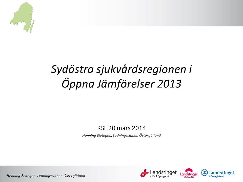 Sydöstra sjukvårdsregionen i Öppna Jämförelser 2013