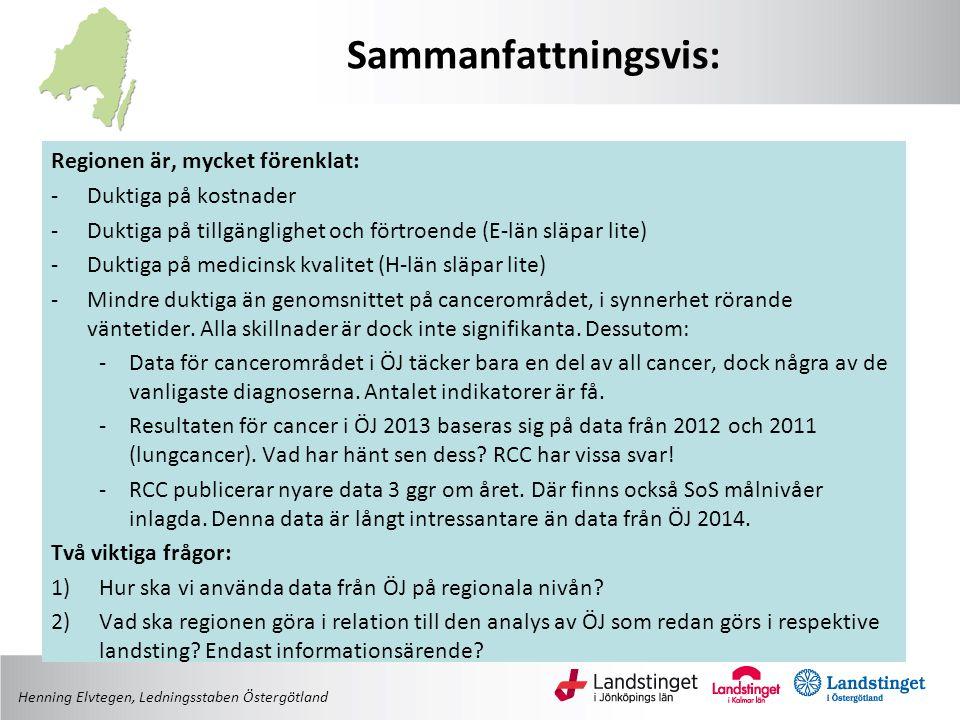 Henning Elvtegen, Ledningsstaben Östergötland