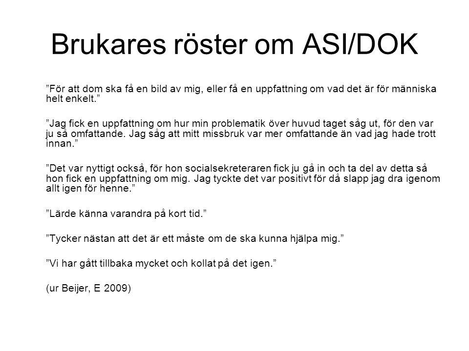 Brukares röster om ASI/DOK