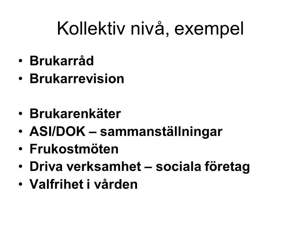 Kollektiv nivå, exempel