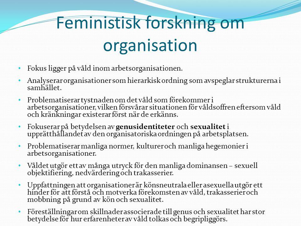 Feministisk forskning om organisation