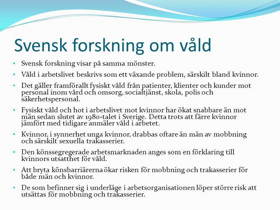 Svensk forskning om våld