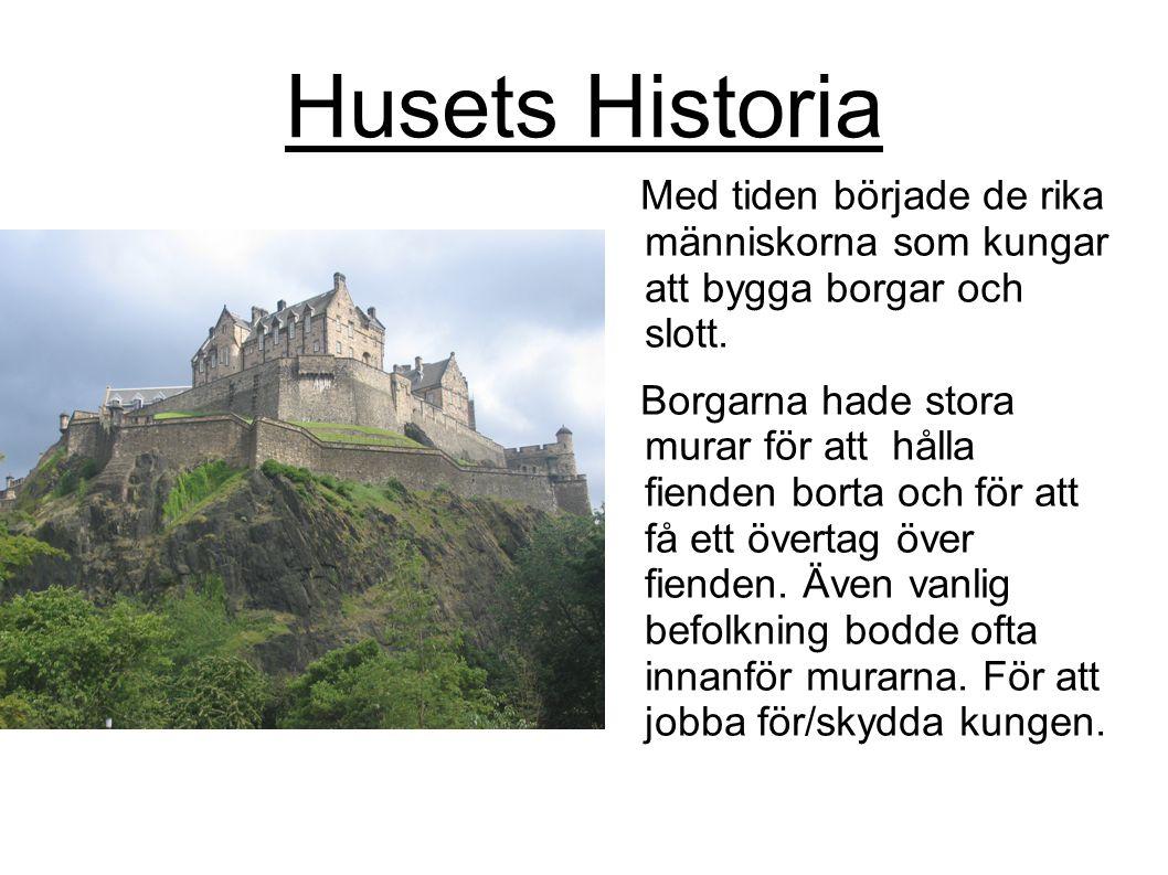Husets Historia Med tiden började de rika människorna som kungar att bygga borgar och slott.