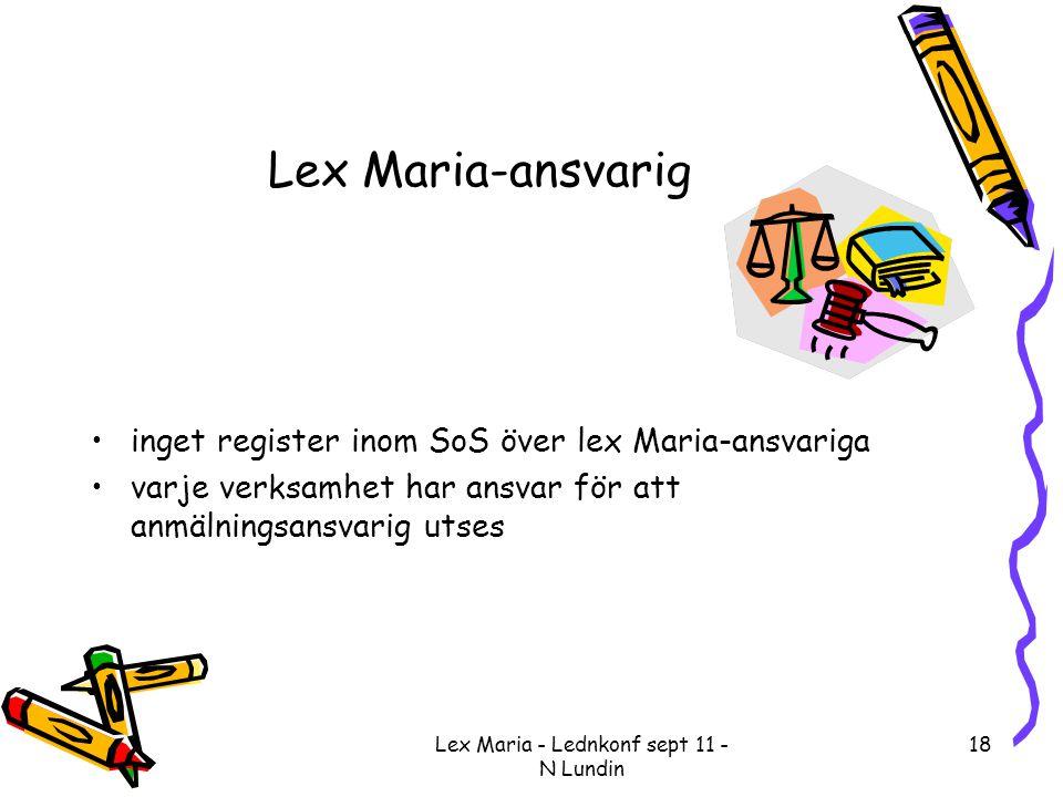 Lex Maria - Lednkonf sept 11 - N Lundin