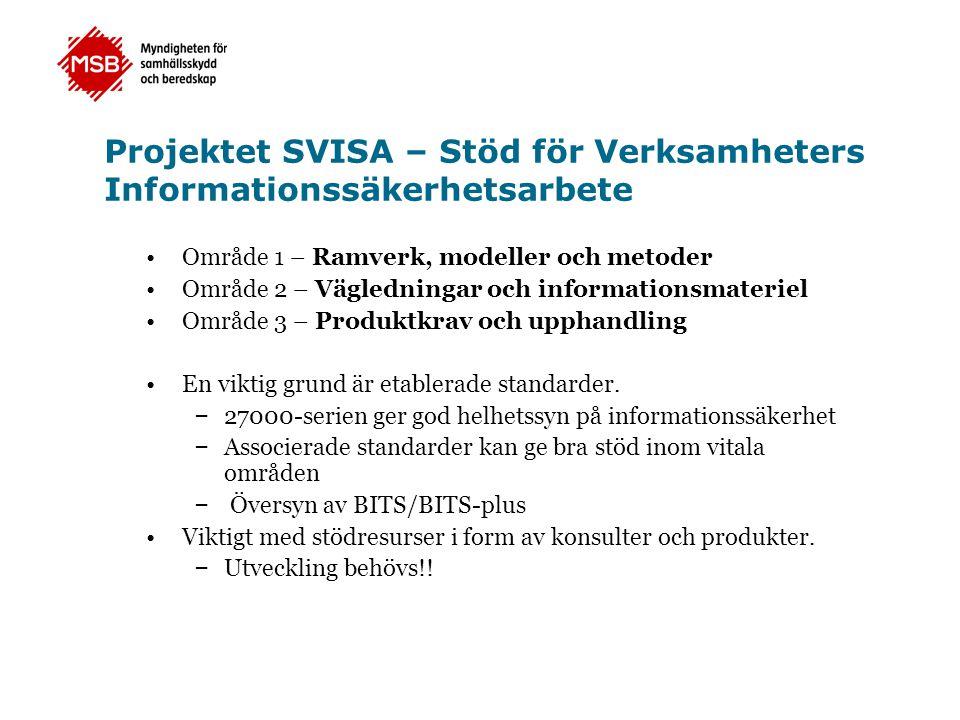 Projektet SVISA – Stöd för Verksamheters Informationssäkerhetsarbete