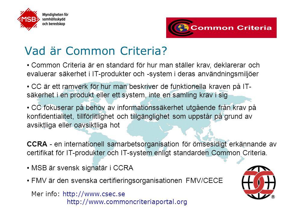 Vad är Common Criteria