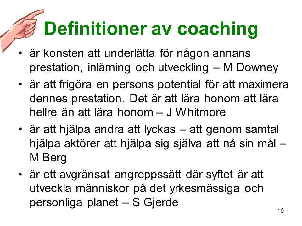 Definitioner av coaching