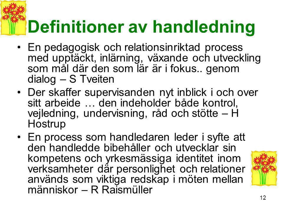 Definitioner av handledning