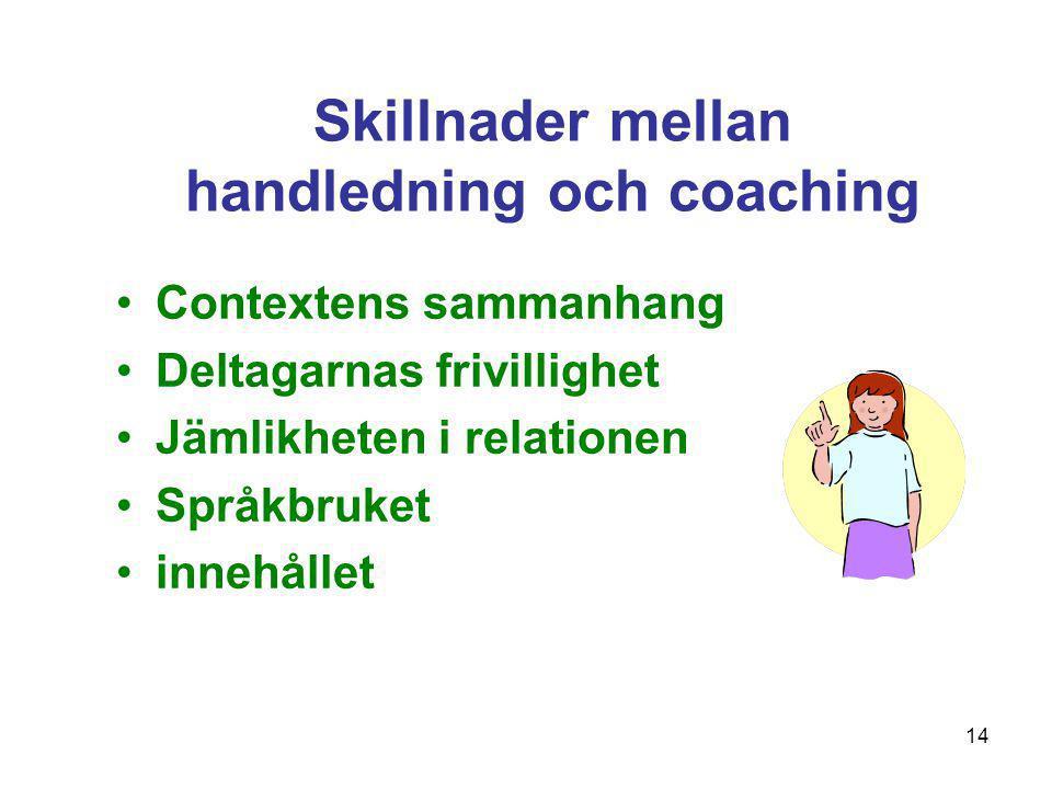 Skillnader mellan handledning och coaching