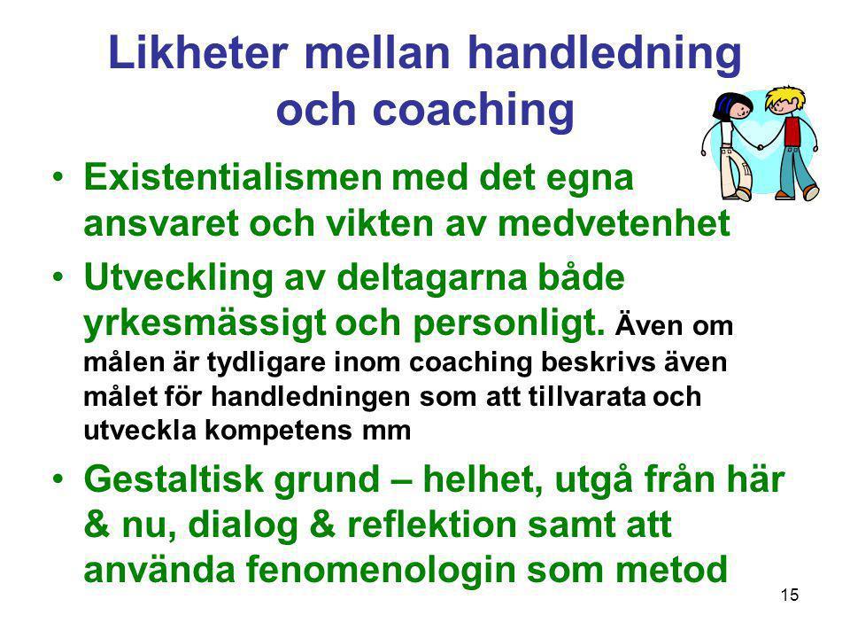Likheter mellan handledning och coaching