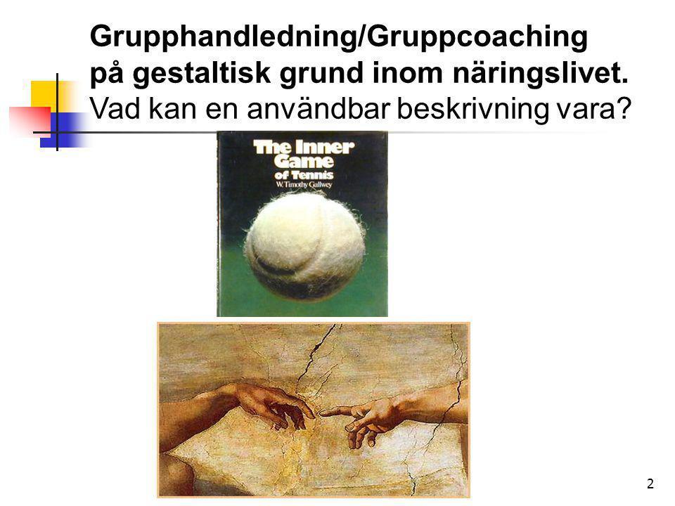 Grupphandledning/Gruppcoaching