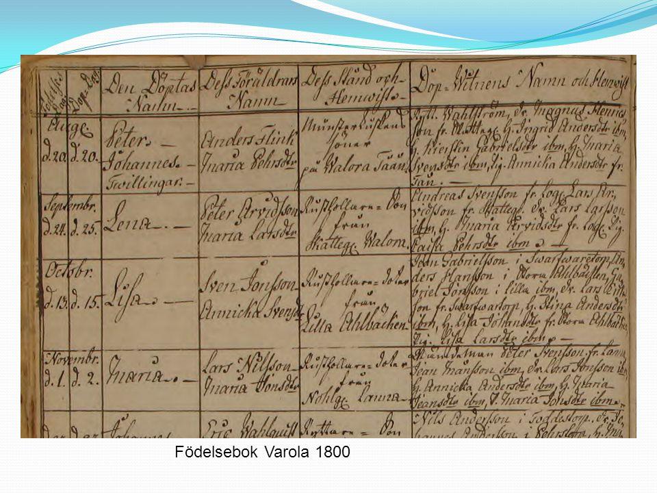 Födelsebok Varola 1800