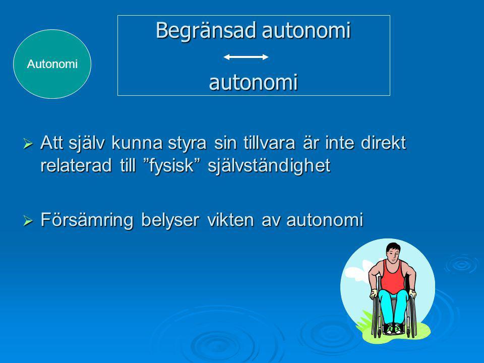 Begränsad autonomi autonomi